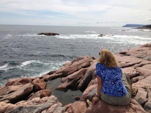 Suzanne along coast of Nova Scotia